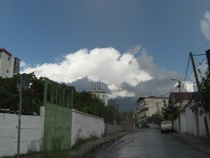 pictures of albania adventures, and clouds, lots of rain. but still sunny? hehe